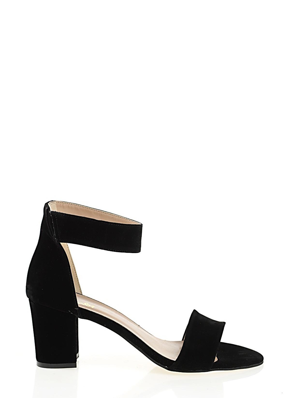 Bambi D0120899572 Siyah Kadın Topuklu Ayakkabı